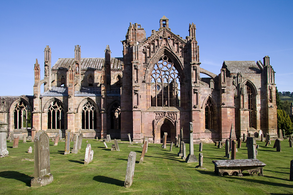 Melrose Abbey, Scottish Lowlands, Scotland, UK (United Kingdom)