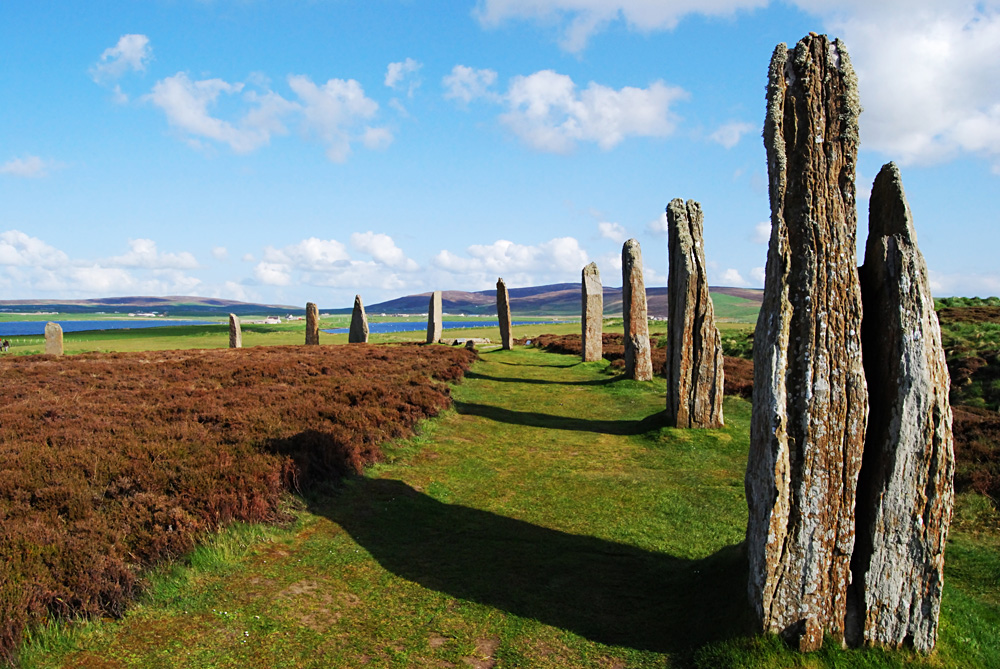 Mystic Ring of Brodgar on the beautiful Orkney Islands, Scotland, UK (United Kingdom)