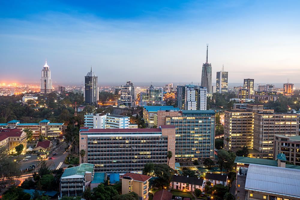 Nairobi Modern Cityscape Kenya, East Africa