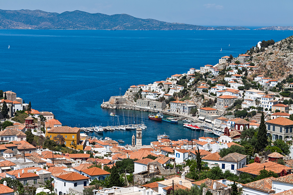 Port of Hydra Island, Greece