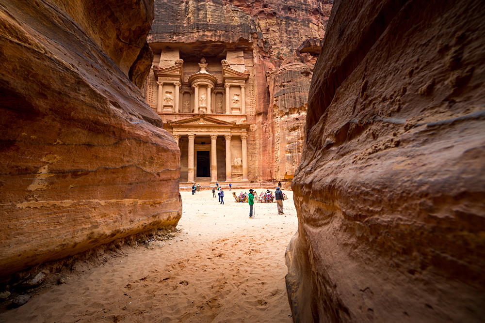 Siq Leading to the Treasury Building, Petra, Jordan