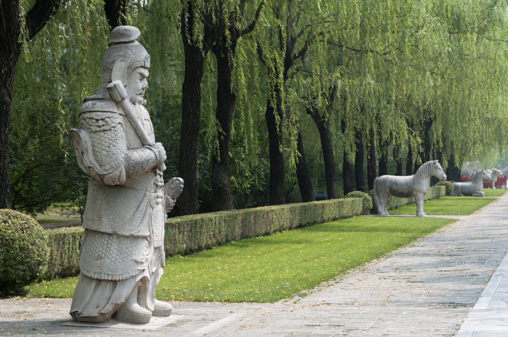 Statues at the Sacred Way of Imperial Tombs of the Ming and Qing Dynasties, Beijing, China