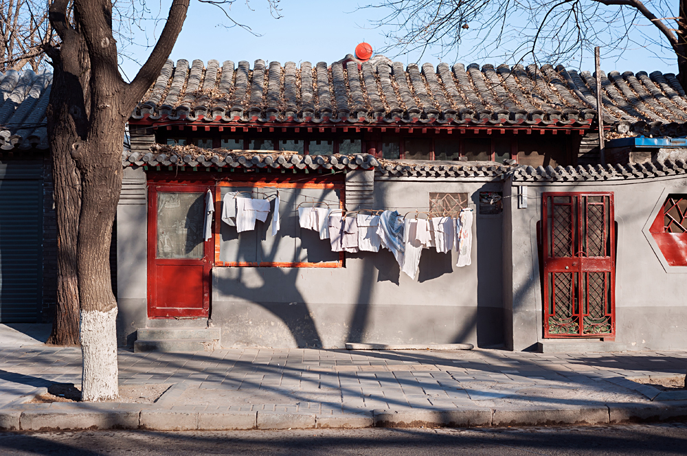 Traditional low-rise Hutong housing, Beijing, China