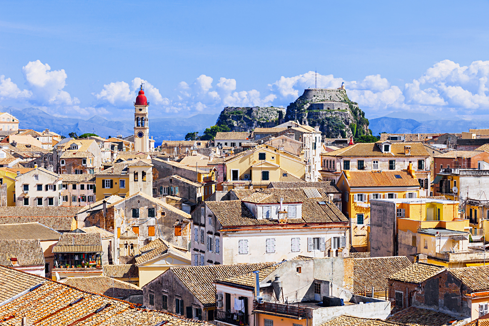 View of Corfu town, Corfu island, Greece