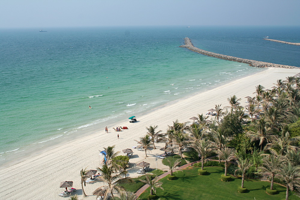 Aerial View of Jumeira Beach, Dubai, United Arab Emirates (UAE)