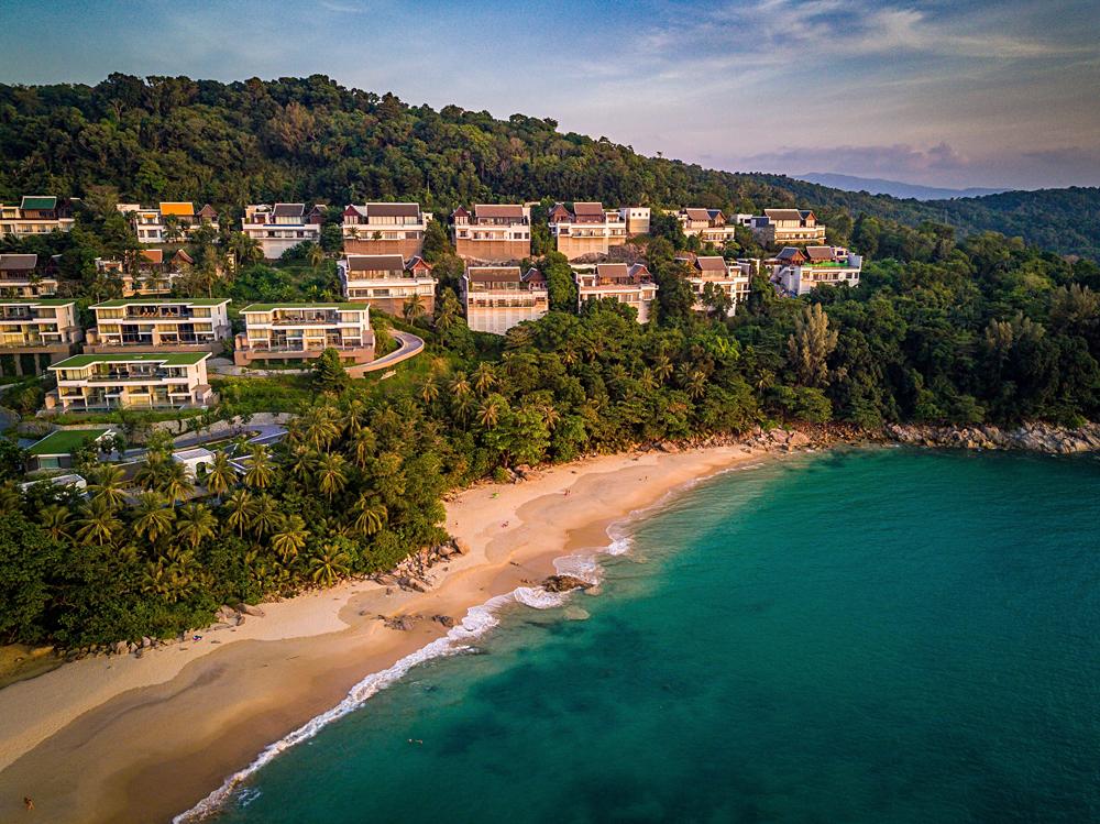 Aerial View of Surin Beach in Phuket, Thailand