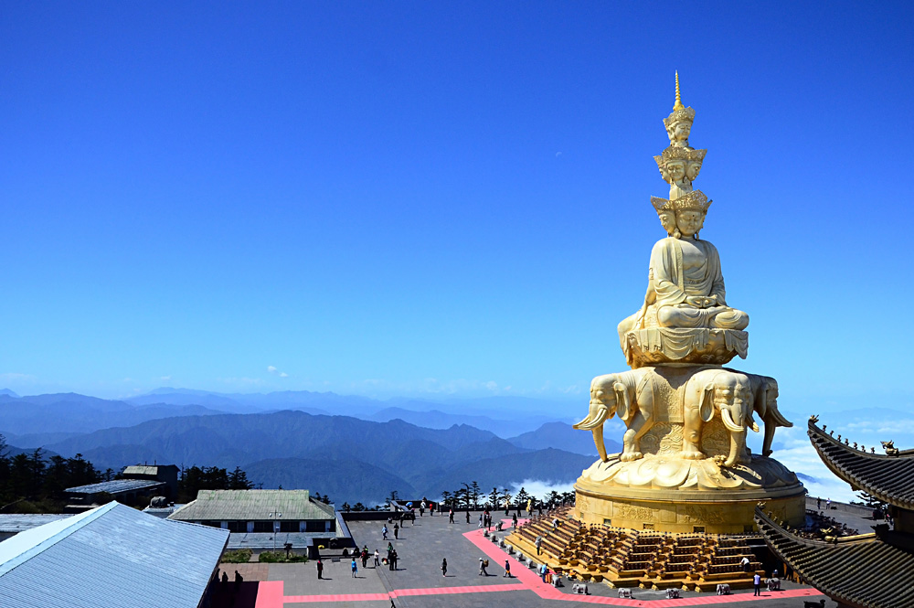Golden Buddha on Mount Emei, Sichuan Province, China
