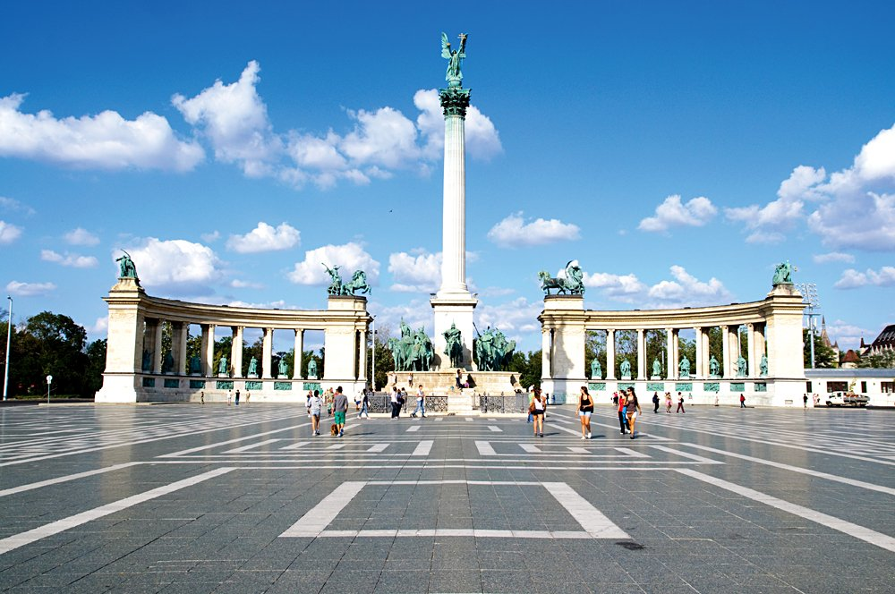 Heroes Square, Budapest, Hungary