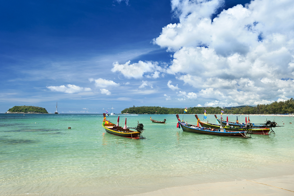 Longtail Boats on Kata Beach, Phuket, Thailand