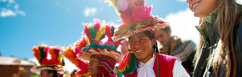 Meet Me At Mistura - Peruvian Musicians in Traditional Costume, Peru