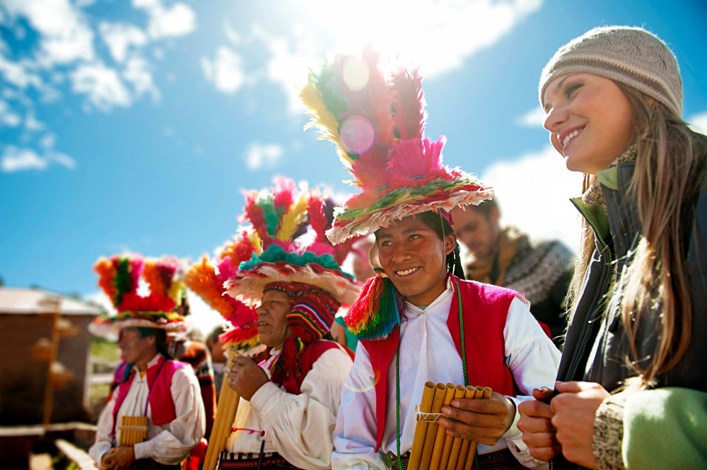 Meet Me At Mistura - Peruvian Musicians in Traditional Costume, Peru