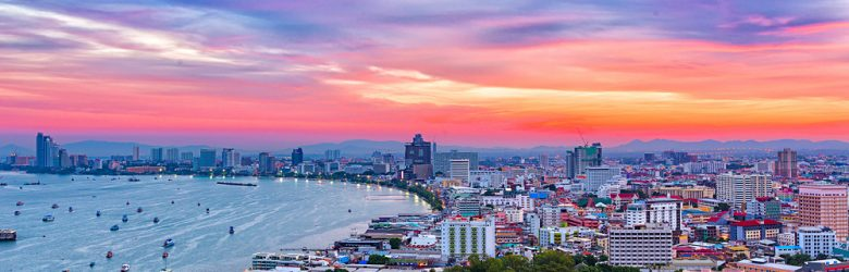 Pattaya at Twilight, Thailand