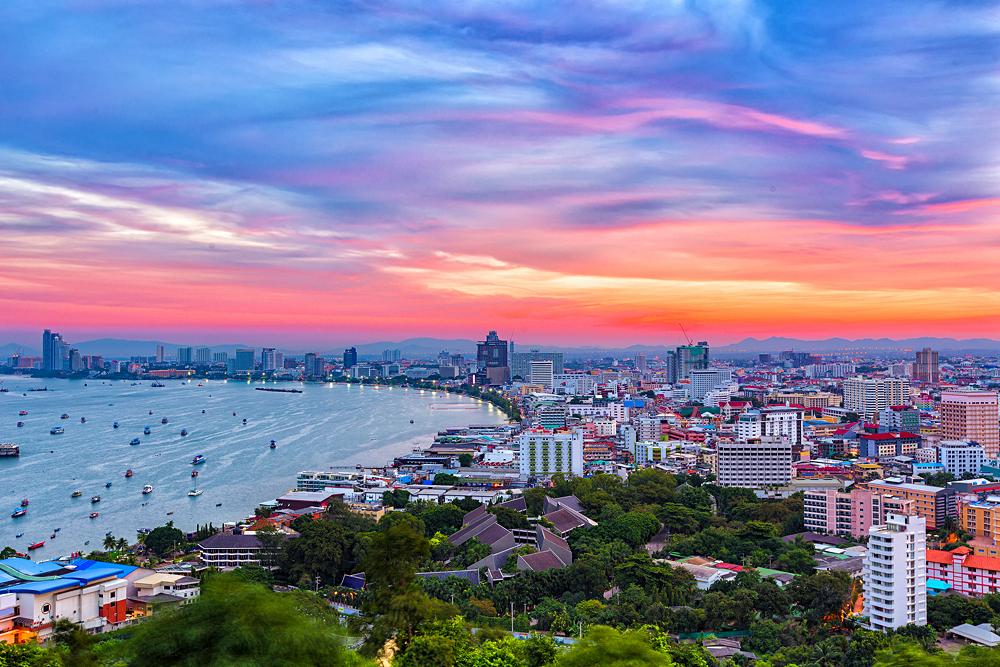 Pattaya at Twilight, Thailand
