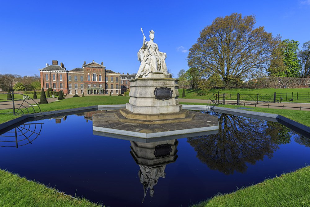 Queen Victoria Statue around Hyde Park, in Front of Kensington Palace, London, UK (United Kingdom)