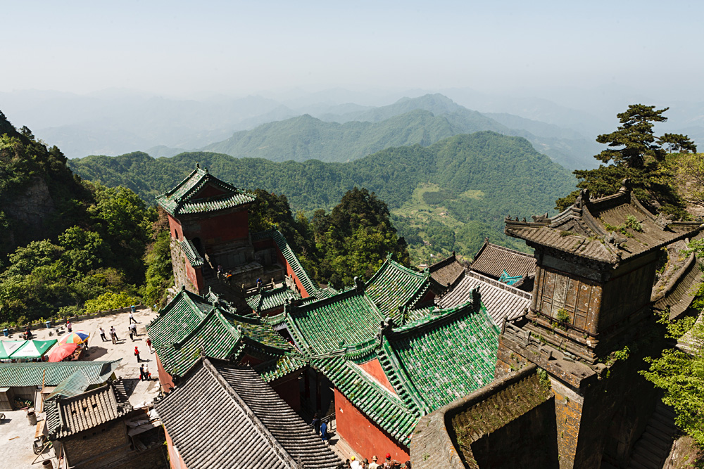 Roofs of monasteries of Wudang Mountains, Hubei Province, China