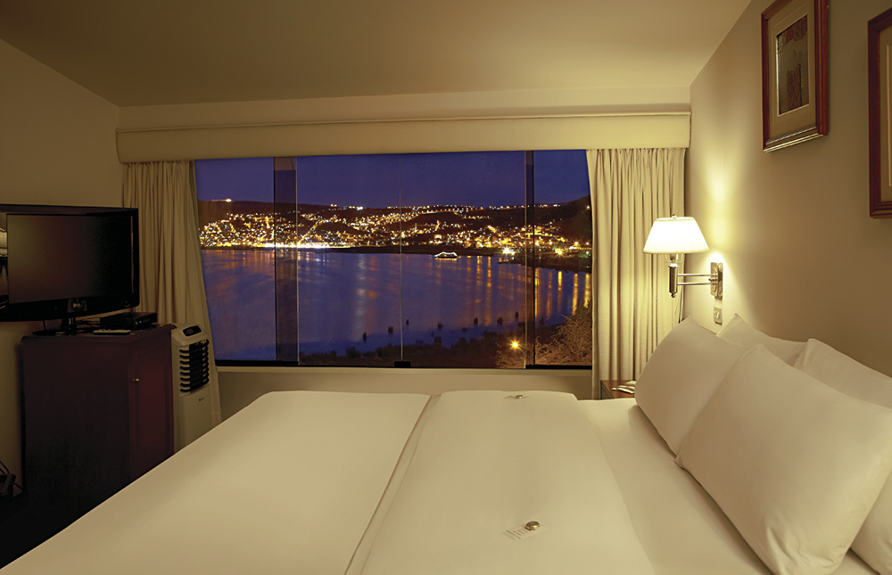 Suite with View of Lake Titicaca and City of Puno, Libertador Isla Esteves Hotel, Peru