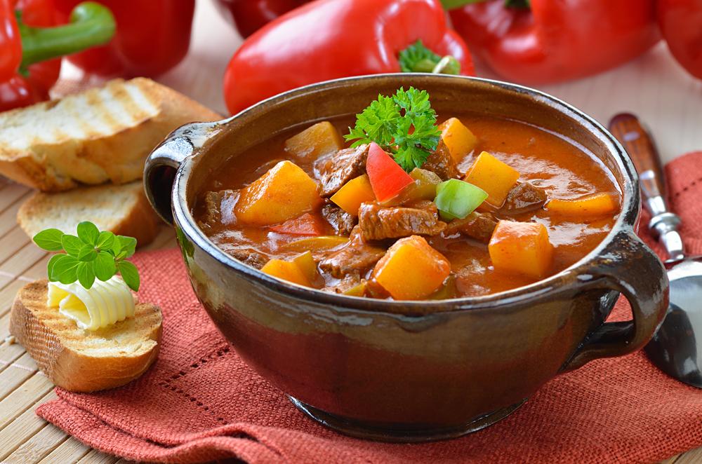Traditional Hungarian Goulash Stew, Hungary