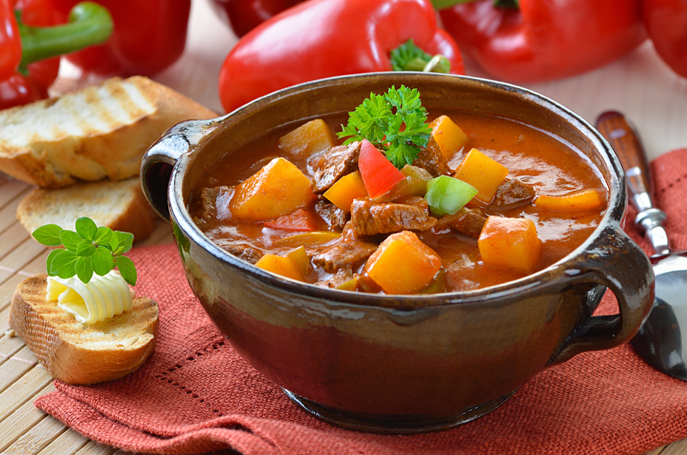 Traditional Hungarian Goulash Stew, Hungary
