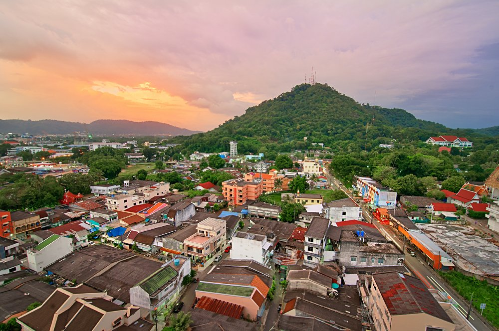 View from a roof of Phuket Town, Thailand