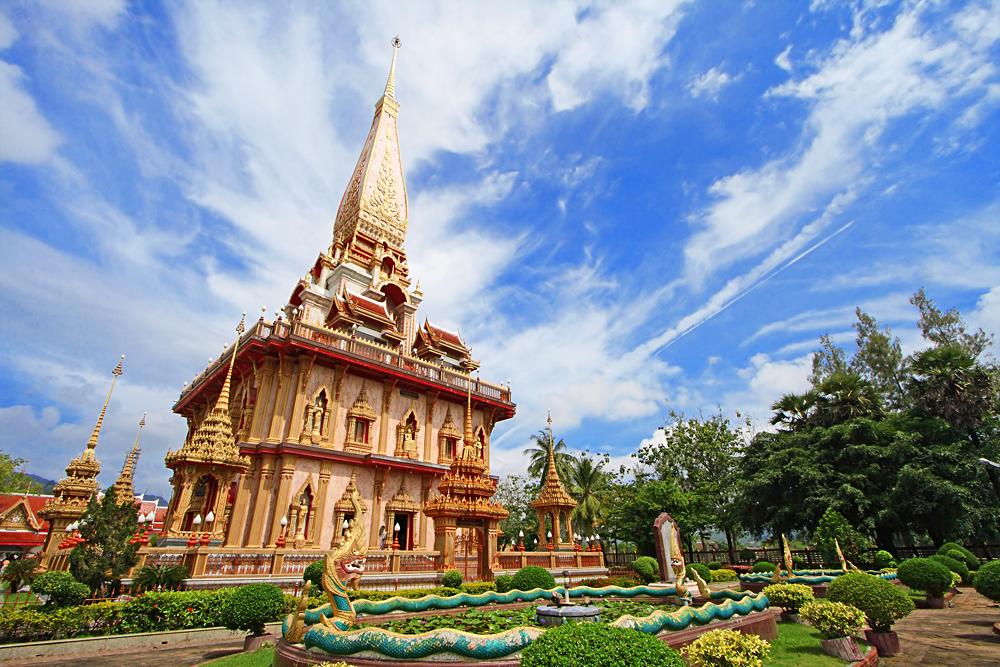 Wat Chalong Pagoda in Phuket, Thailand