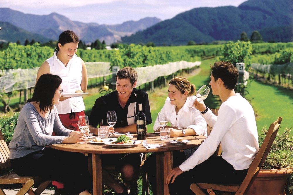 Wine Tasting Group in Marlborough, South Island, New Zealand