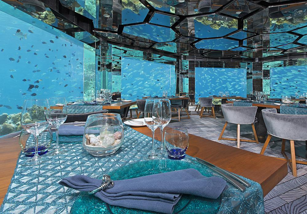 Anantara Kihavah Maldives Villas - Sea Underwater Restaurant