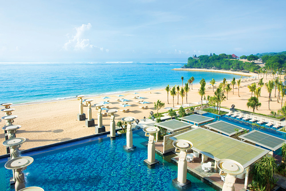 Beautiful Beach at the Mulia Resort in Nusa Dua, Bali, Indonesia
