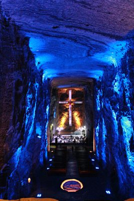 Emma Cottis - Inside the Salt Cathedral of Zipaquira, outside Bogota, Colombia