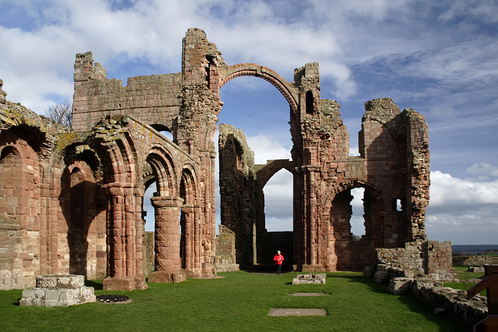 Holy Island or Lindisfarne Priory, Northumberland, England, UK (United Kingdom)