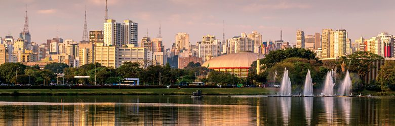 Ibirapuera Park with Fountain, Sao Paulo, Brazil