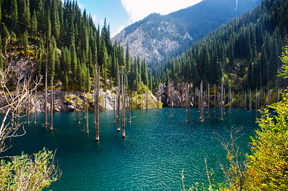 Lake Kaindy in Tian Shan Mountain, Kazakhstan