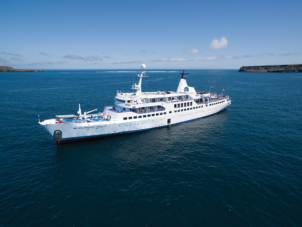 MV Legend - Aerial View of Exterior, Galapagos Islands, Ecuador