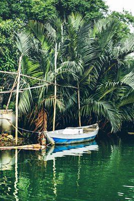 Michaela Trimble - Boat Moored on Thu Bon River, Hoi An, Vietnam