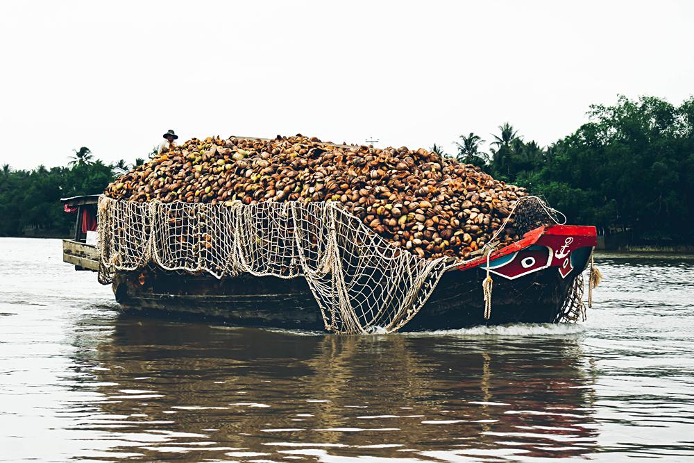 Michaela Trimble - Transporting Coconuts along the Mekong, Vietnam