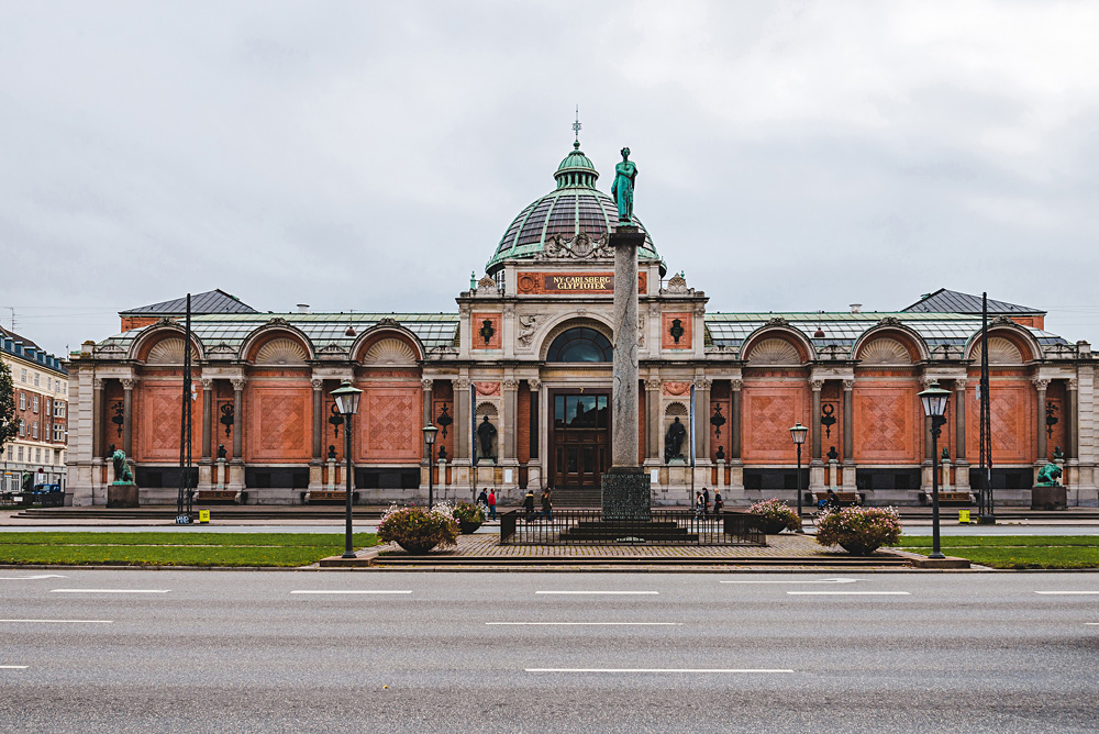 Ny Carlsberg Glyptotek building and column in Copenhagen, Denmark