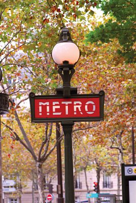 Paris Metro Sign, France