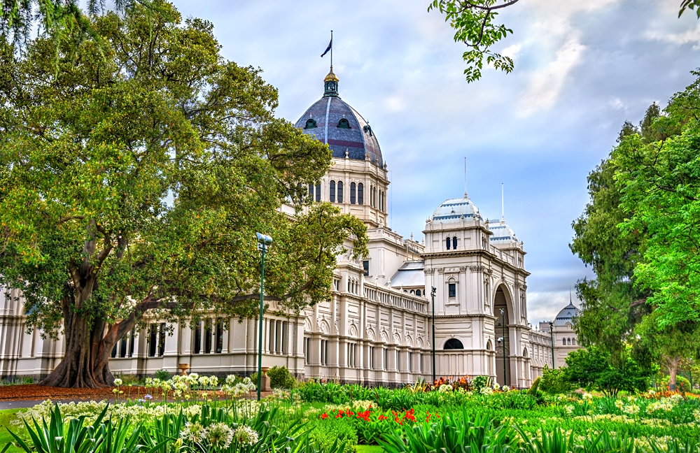 The Royal Exhibition Building in Carlton, Melbourne, Victoria, Australia