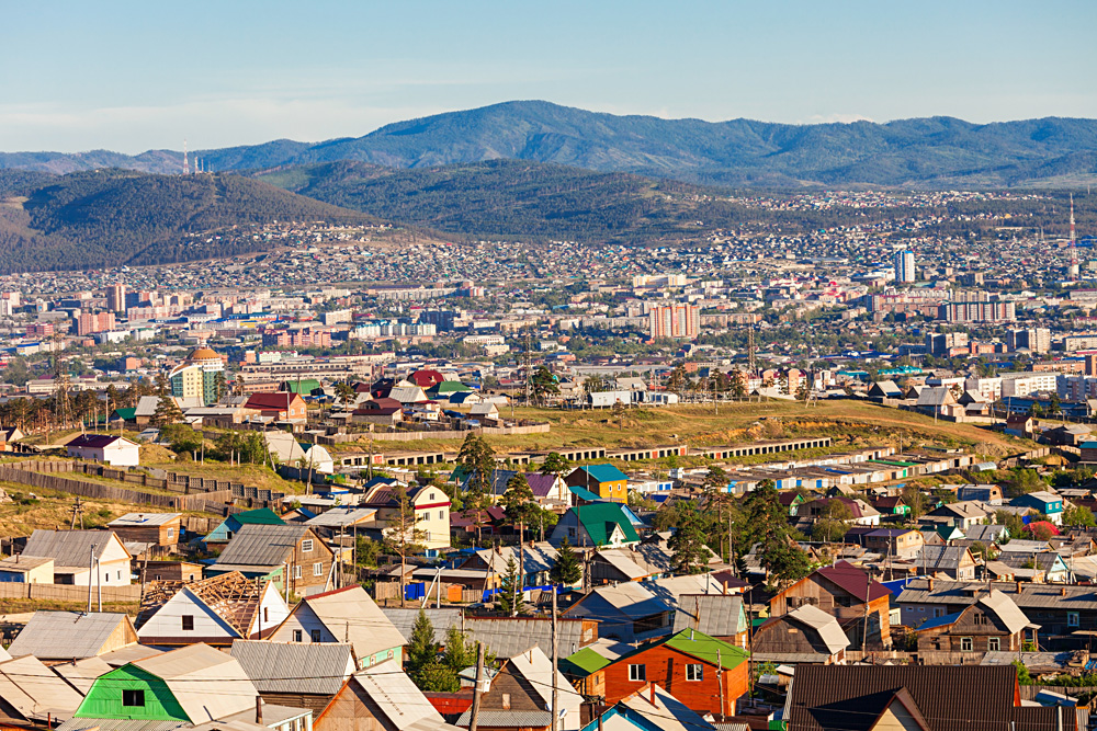 Aerial Panoramic View of Ulan-Ude, Russia