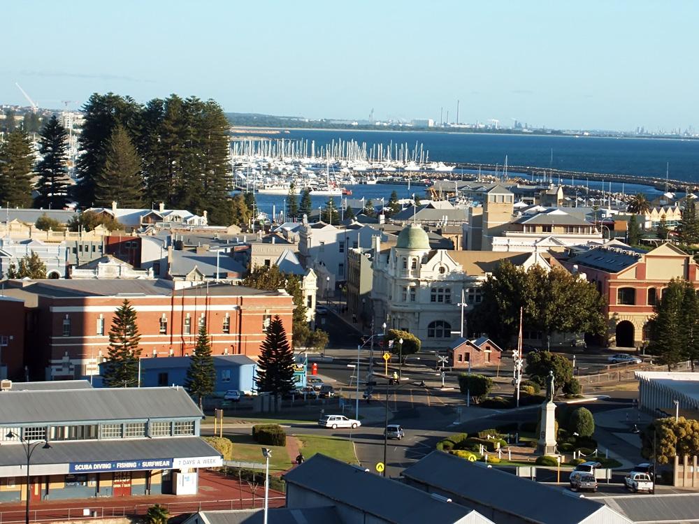 Aerial view of Fremantle, Western Australia, Australia