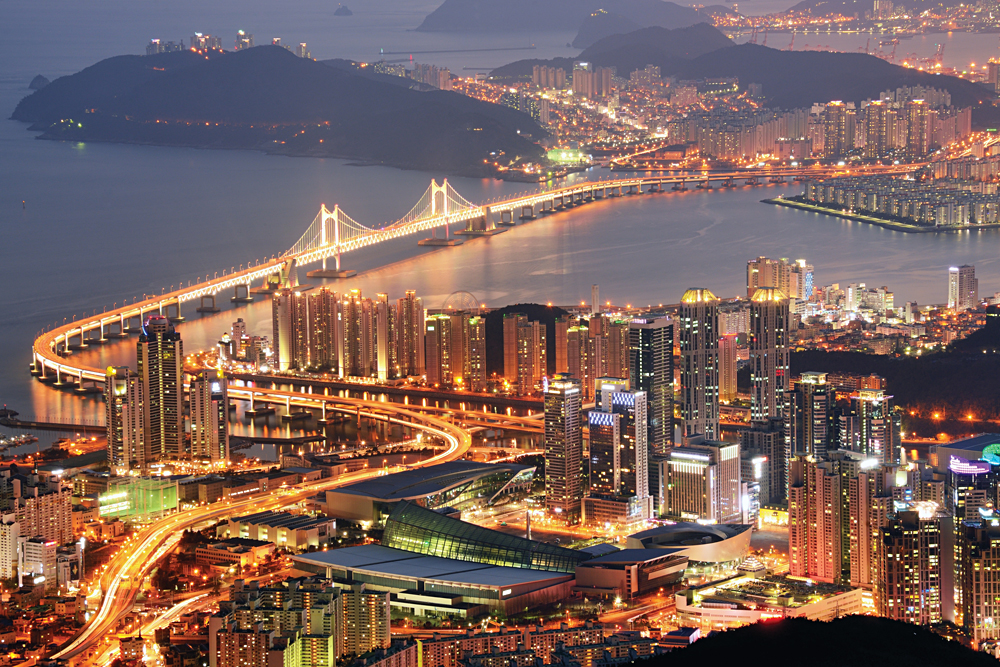 Busan Skyline at Night, South Korea