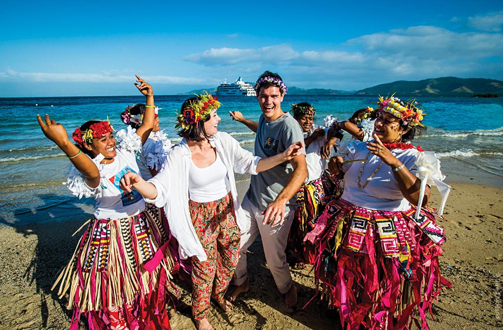 Captain Cook Cruises - Having Fun on Kioa Island, Fiji