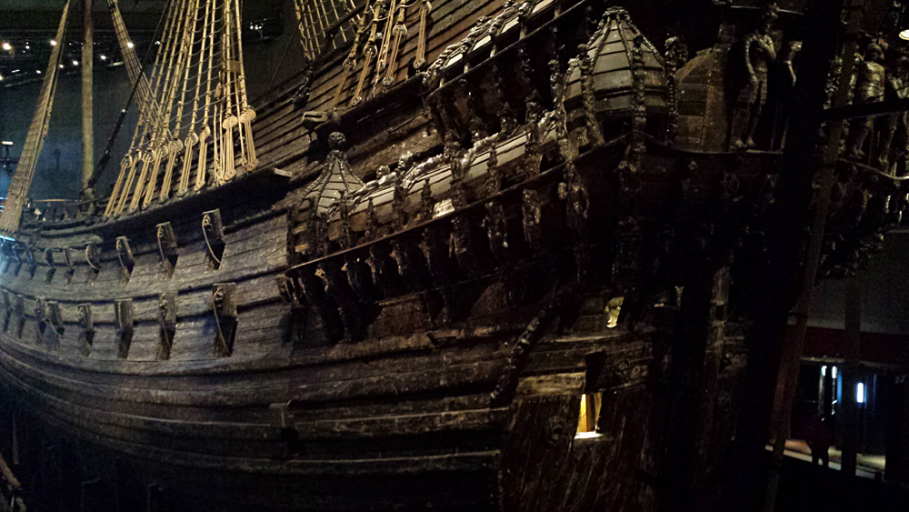 Christian Baines - Side of the Vasa, at Vasa Museum, Stockholm, Sweden
