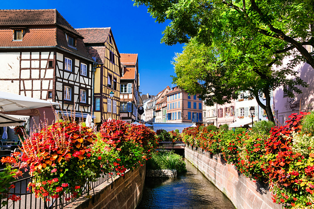 Colourful Colmar town in Alsace region, France