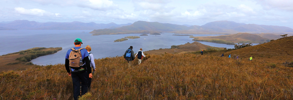 Enjoy walks and hiking opportunities on your Coral Expeditions Tasmania Cruise, Australia