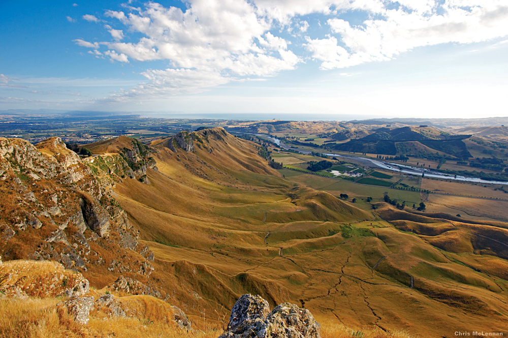 View from Te Mata Peak, Hawkes Bay, North Island, New Zealand | Photo credit: Janie Robinson
