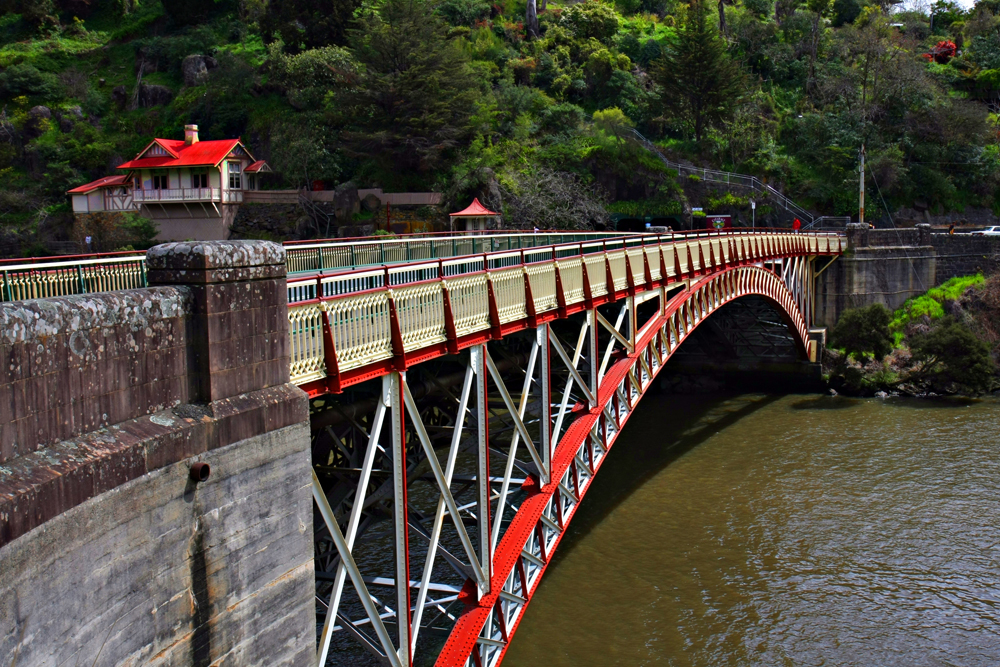 Kings Bridge over Launceston's Cataract Gorge, Tasmania, Australia