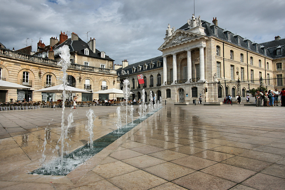 Liberation Square and the Palace of Dukes of Burgundy in Dijon, France