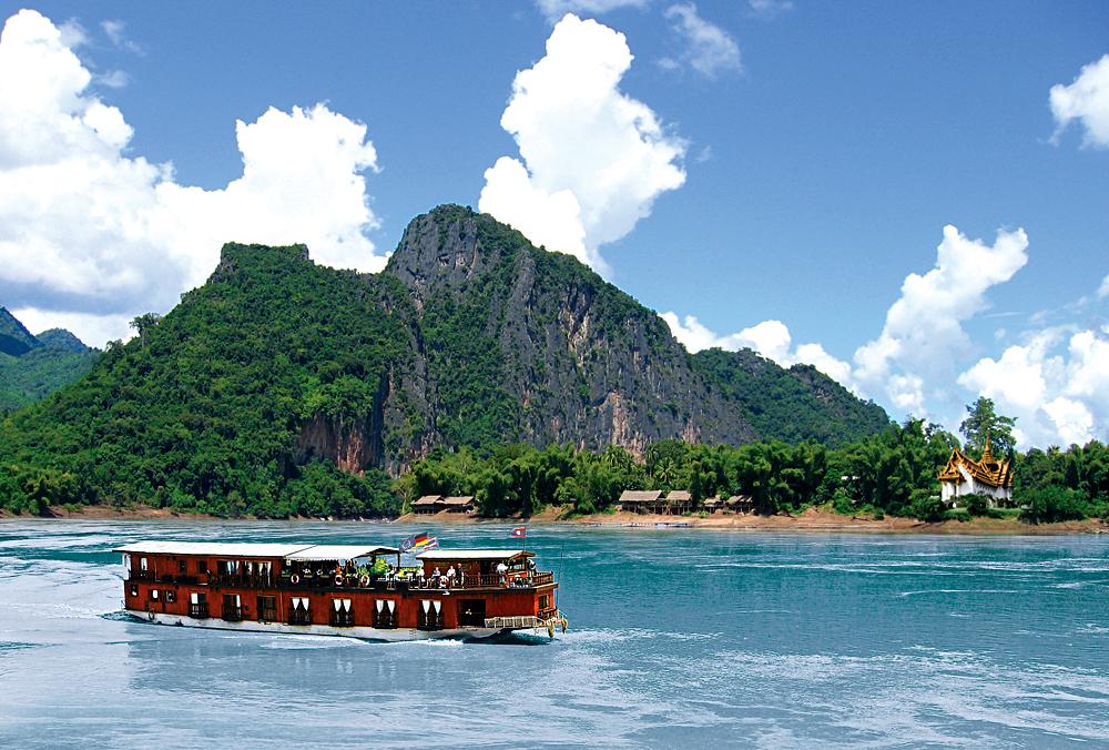 Mekong Sun - Cruising in the Mekong River, Laos