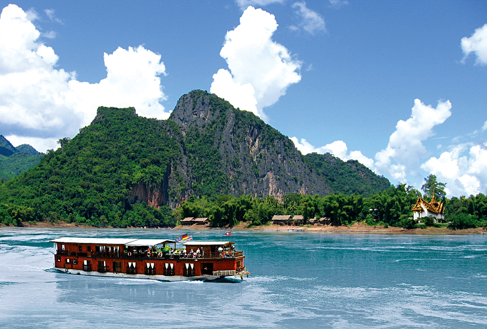 Mekong Sun - Cruising in the Mekong River, Laos