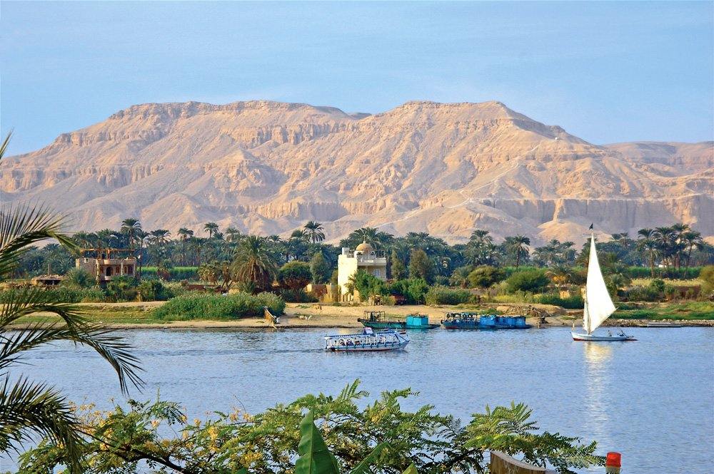 Nile River at Aswan, Egypt
